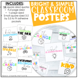 Bright & Simple Classroom Posters