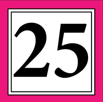 Bright Simple Clean : Calendar Numbers