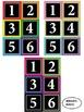 Bright Simple Clean : Calendar Numbers : Black Series