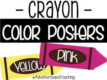 Bright Simple Crayon Color Cards