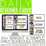 Bright & Simple Schedule Cards {Melonheadz}