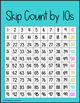 Bright Skip Count and Partners of 10 Posters | Hundreds Chart Version