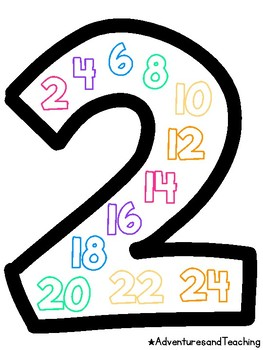Bright Skip Counting Number Posters