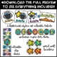 Bright Outer Space Theme Classroom Decor Bundle - Editable!