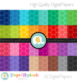 Bright Spotty Digital Papers