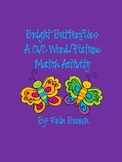 Bright Spring Butterflies - A CVC Word and Picture Match Activity
