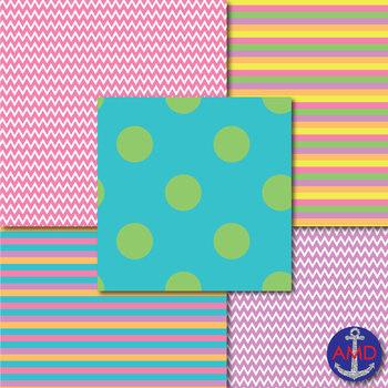 Bright Spring Colors Digital Paper Mega Pack