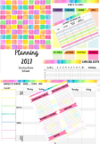 Bright Squares Planner Template