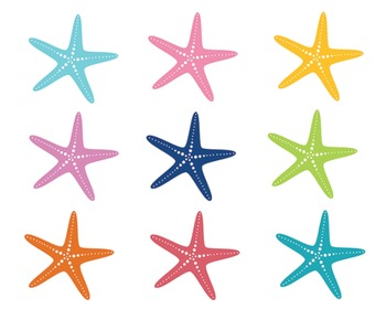 Bright Star Fish Clipart Set #020