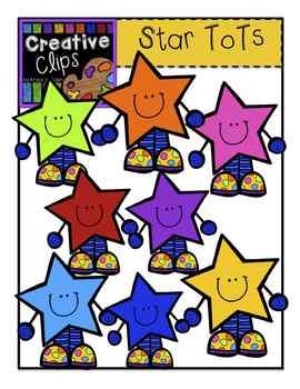 Bright Star Tots {Creative Clips Digital Clipart}