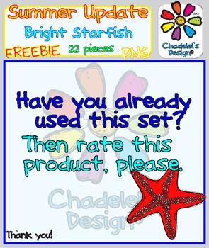 Bright Starfish FREEBIE Clips