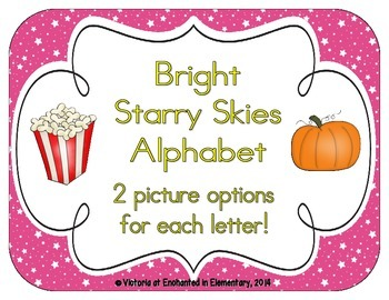 Bright Starry Skies Alphabet Cards