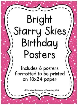 Bright Starry Skies Birthday Posters