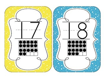Bright Starry Skies Number Cards 1-20