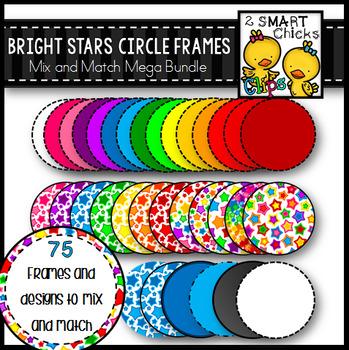 Bright Stars Circle Frames - Mix and Match MEGA BUNDLE
