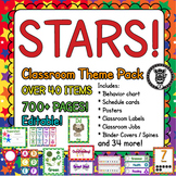 Classroom Theme Decor / Organization - Mega Bundle (Editable!) - Bright Stars