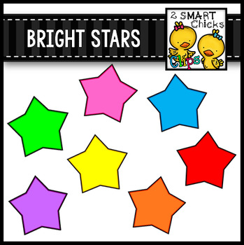 Bright Stars Clip Art Bundle FREEBIE