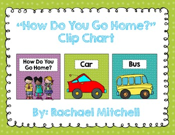 """Bright Stars """"How Do You Get Home?"""" Clip Chart {with white labels}"""