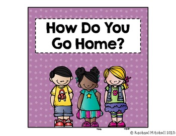 "Bright Stars ""How Do You Get Home?"" Clip Chart {with white labels}"