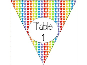 Bright Stars Table Numbers