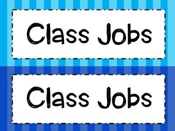 Bright Stripe Classroom Jobs
