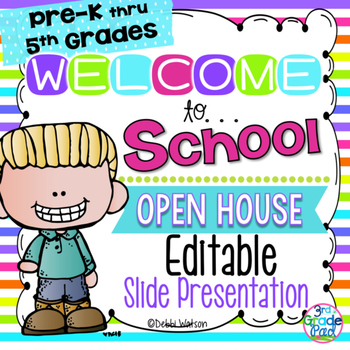 Bright Stripe Editable Welcome & Open House Powerpoint Presentation