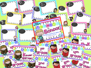 Bright Stripe Editable Welcome & Open House /Meet the Teacher Powerpoint