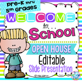 Bright Stripe Editable Welcome & Open House /Meet the Teac