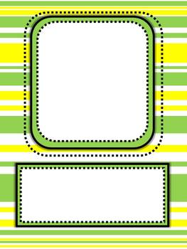 Bright Stripe! Frame Pack (Single and Double Frames)