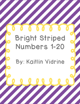 Bright Striped Numbers 1-20