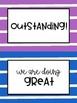 Behavior Clip Chart - Rainbow Stripes - Classroom Management