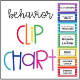 Behavior Clip Chart - Rainbow Stripes - Classroom Management