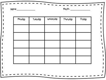 Bright Stripes Classroom Behavior Chart