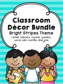 Bright Stripes Classroom Decor Pack