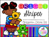Bright Stripes Classroom Decor Pack (Editable)