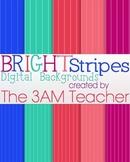 Bright Stripes Digital Backgrounds
