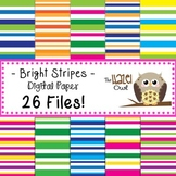 Digital Papers: Bright Stripes