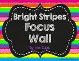 Bright Stripes Focus Wall {Chalkboard}