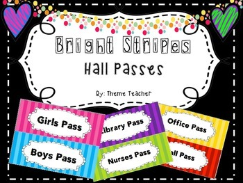 Bright Stripes Hall Passes