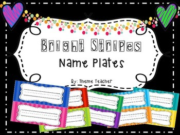 Bright Stripes Name Plates