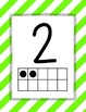 Bright Stripes Number Posters 0-30