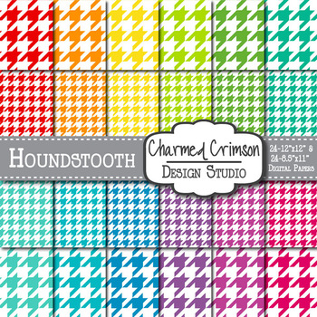 Bright Houndstooth Paper 1004