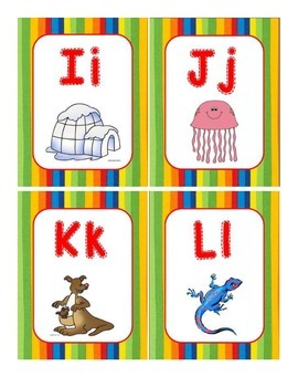 Bright Stripes Word Wall Cards