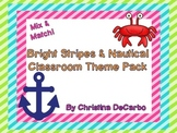 Bright Stripes and Nautical Classroom Theme Decorations
