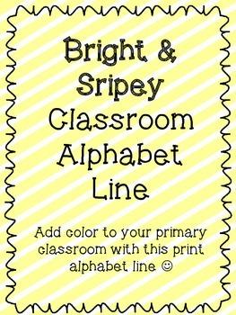 Bright Stripes Alphabet (With BONUS Phonics cards)