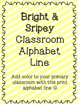 Bright Stripes Alphabet (With BONUS Phonics cards)