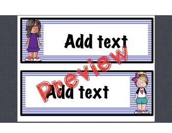 Bright Student Name Tags