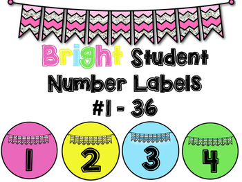 Bright Student Number Labels