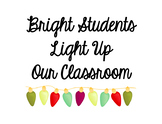 Bright Student Winter Sign