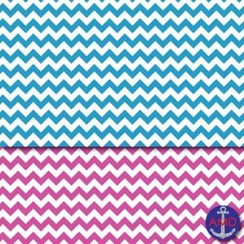 Bright Summer Chevron Striped Digital Paper for Bulletins, Backgrounds & More